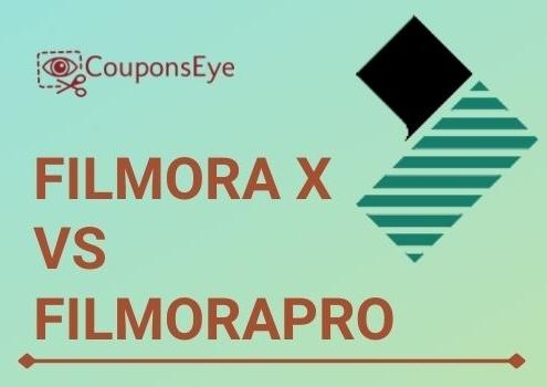 Filmora X Vs FilmoraPro