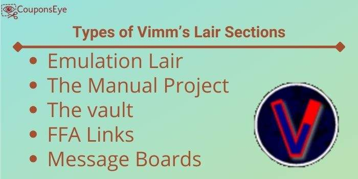 Types of Vimm's Lair Sections